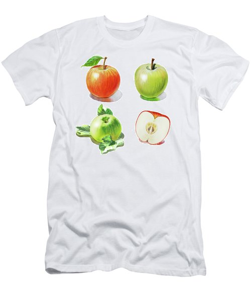 Men's T-Shirt (Athletic Fit) featuring the painting Watercolor Apples Illustration by Irina Sztukowski