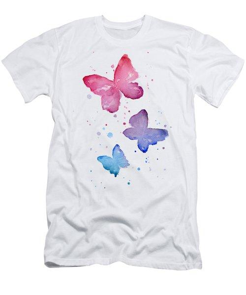 Watercolor Butterflies Men's T-Shirt (Athletic Fit)