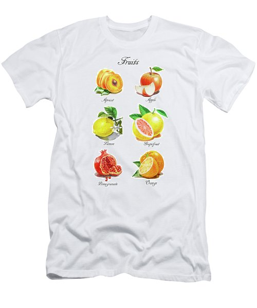 Watercolor Fruit Illustration Collection I Men's T-Shirt (Athletic Fit)