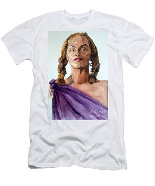 Portrait In Watercolor Of A Brooklyn Queen Men's T-Shirt (Athletic Fit)