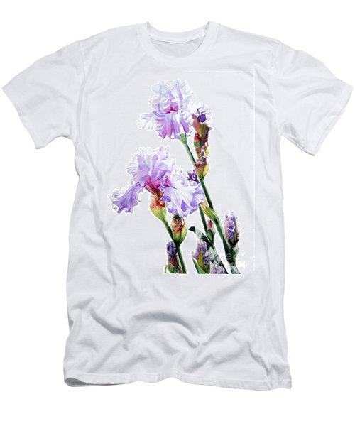 Watercolor Of A Tall Bearded Iris I Call Lilac Iris Wendi Men's T-Shirt (Athletic Fit)