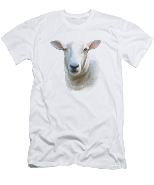 Watercolor Sheep Men's T-Shirt (Athletic Fit)