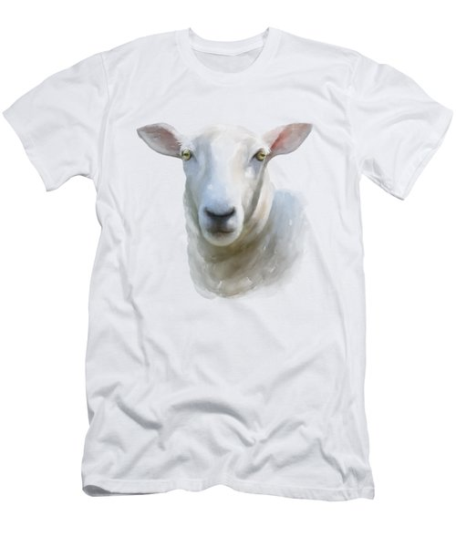 Men's T-Shirt (Athletic Fit) featuring the painting Watercolor Sheep by Ivana Westin