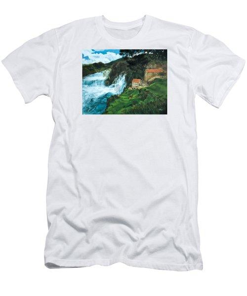 Waterfall In Krka Men's T-Shirt (Athletic Fit)