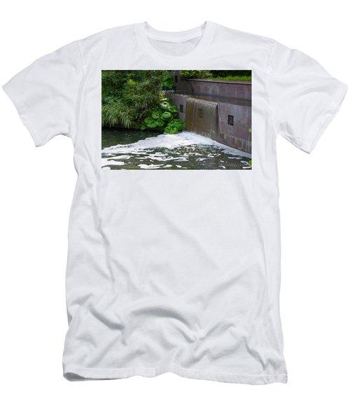Waterfall - Longwood Gardens Men's T-Shirt (Athletic Fit)