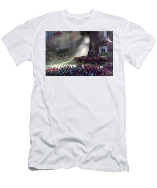 Watering The Lawn Men's T-Shirt (Slim Fit) by Keith Boone