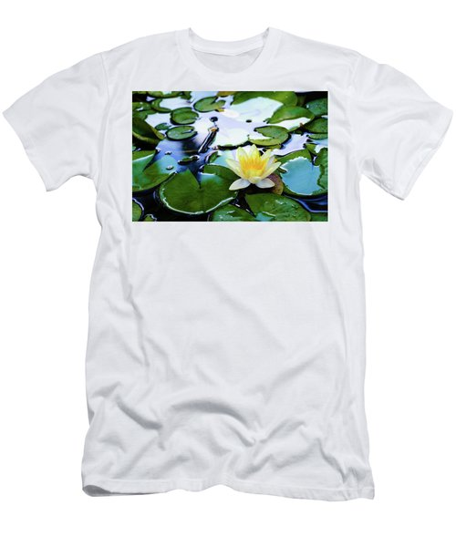 Waterlilly On Blue Pond Men's T-Shirt (Athletic Fit)