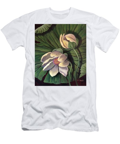 Waterlily Like A Clock Men's T-Shirt (Athletic Fit)