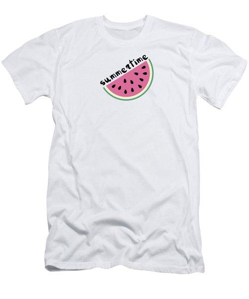 Watermelon Pattern Men's T-Shirt (Slim Fit) by Alina Krysko