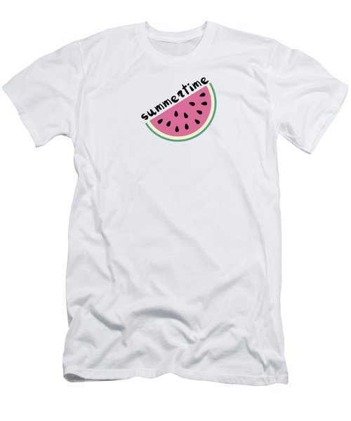 Watermelon Pattern Men's T-Shirt (Athletic Fit)