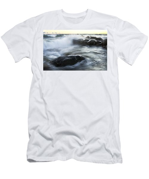 Wave Crashes Rocks 7833 Men's T-Shirt (Athletic Fit)
