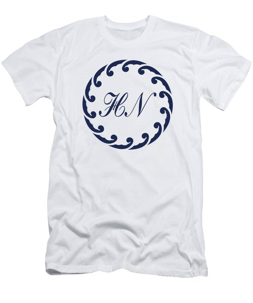 Wave Ring And Cipher In Blue Men's T-Shirt (Athletic Fit)