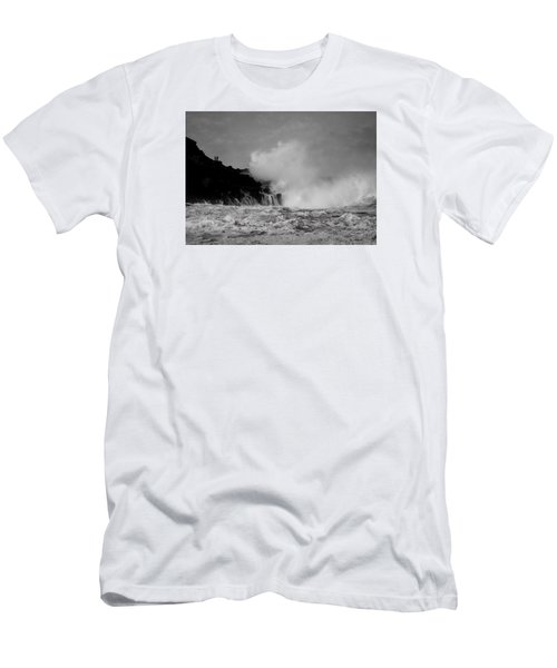 Wave Watching Men's T-Shirt (Slim Fit) by Roy McPeak