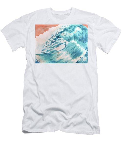 Wave Men's T-Shirt (Slim Fit) by Whitney Morton
