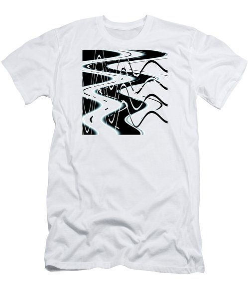Men's T-Shirt (Slim Fit) featuring the digital art Wavelengths by Adria Trail