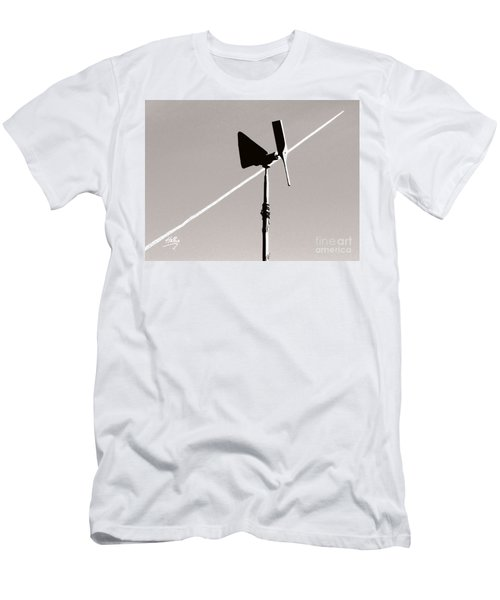 Men's T-Shirt (Slim Fit) featuring the photograph Weather Vane by Linda Hollis