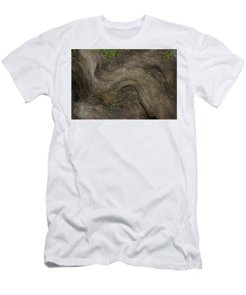 Men's T-Shirt (Slim Fit) featuring the photograph Weathered Tree Root by Mike Eingle
