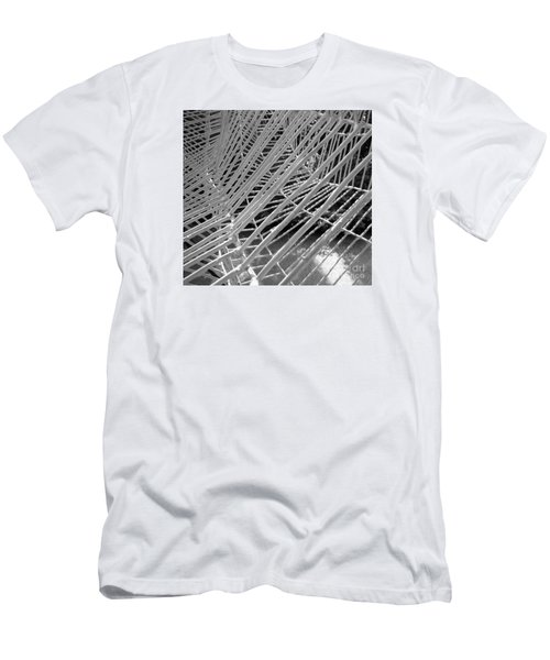 Men's T-Shirt (Slim Fit) featuring the photograph Web Wired by Cathy Dee Janes