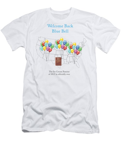 Welcome Back Blue Bell Men's T-Shirt (Slim Fit) by Jacquie King