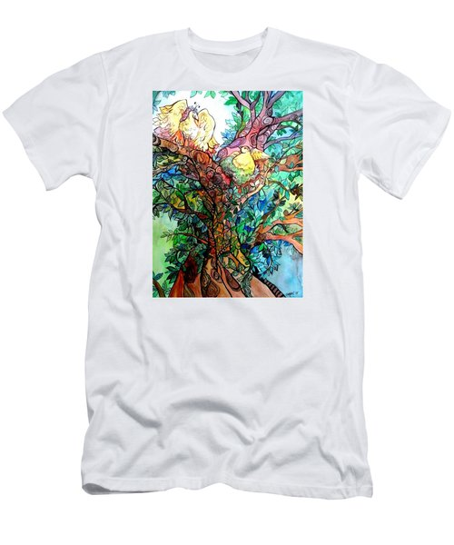 Welcome Home Men's T-Shirt (Slim Fit) by Claudia Cole Meek