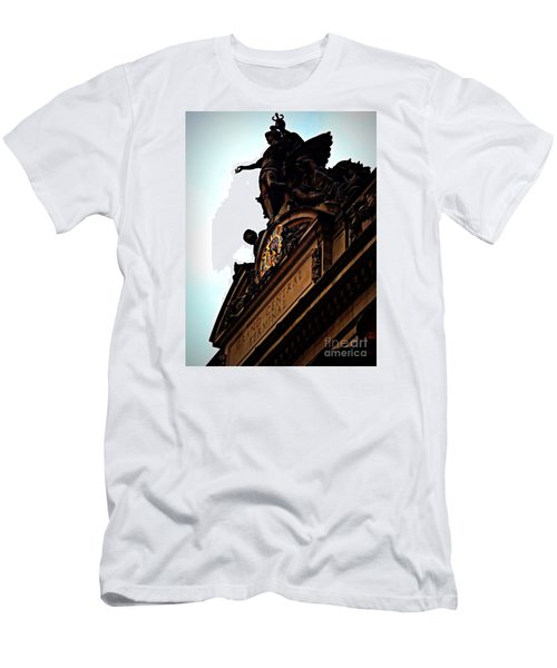 Welcome To Grand Central Men's T-Shirt (Slim Fit) by James Aiken