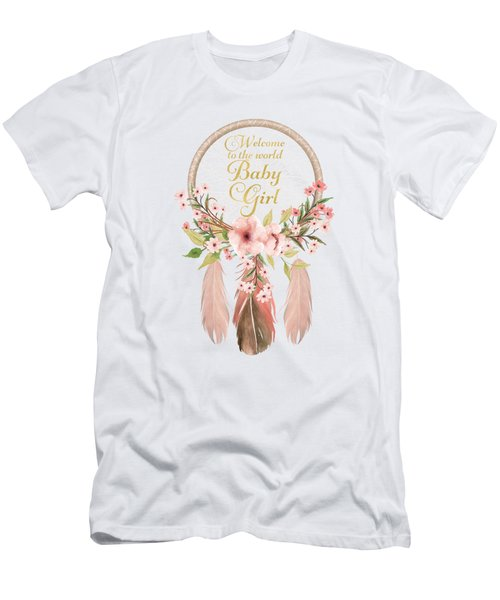 Welcome To The World Baby Girl Dreamcatcher Men's T-Shirt (Athletic Fit)