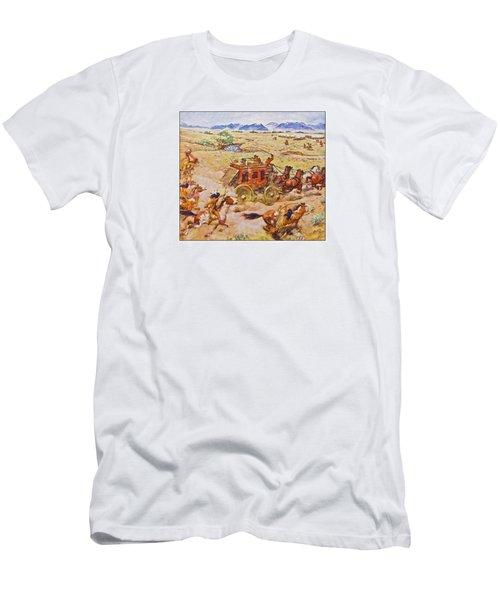 Wells Fargo Express Old Western Men's T-Shirt (Slim Fit) by Susan Leggett
