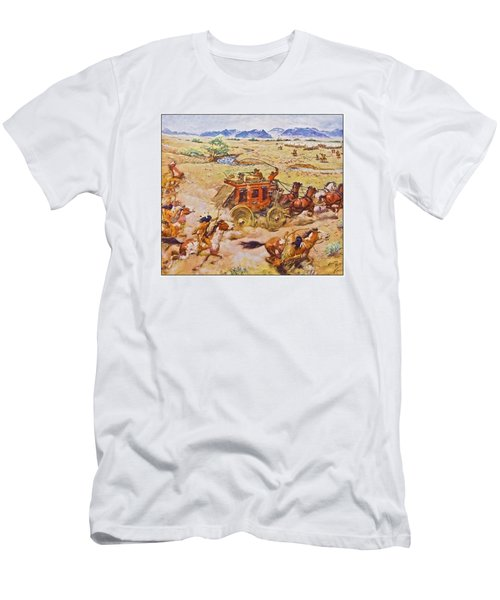 Wells Fargo Express Old Western Men's T-Shirt (Athletic Fit)