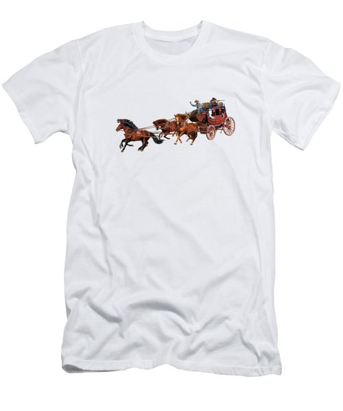 Wells Fargo Stagecoach Men's T-Shirt (Athletic Fit)