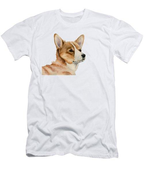 Welsh Corgi Dog Painting Men's T-Shirt (Athletic Fit)