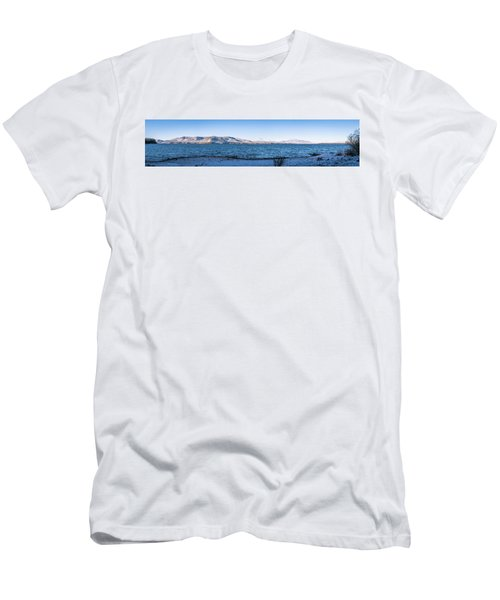 Men's T-Shirt (Slim Fit) featuring the photograph West Almanor Blue by Jan Davies