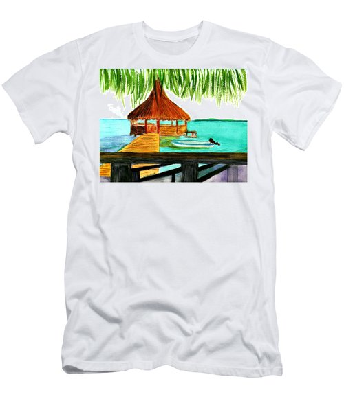 West End Roatan Men's T-Shirt (Slim Fit) by Donna Walsh