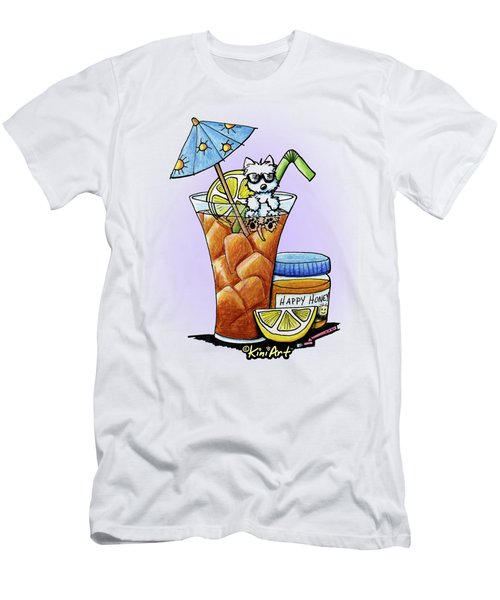 West Highland Iced Tea Men's T-Shirt (Slim Fit) by Kim Niles