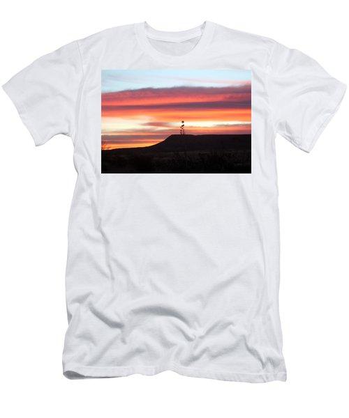 Mile Marker 122 West Texas Sunrise Men's T-Shirt (Athletic Fit)
