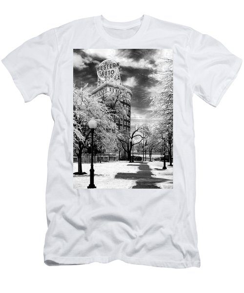 Western Auto In Winter Men's T-Shirt (Athletic Fit)