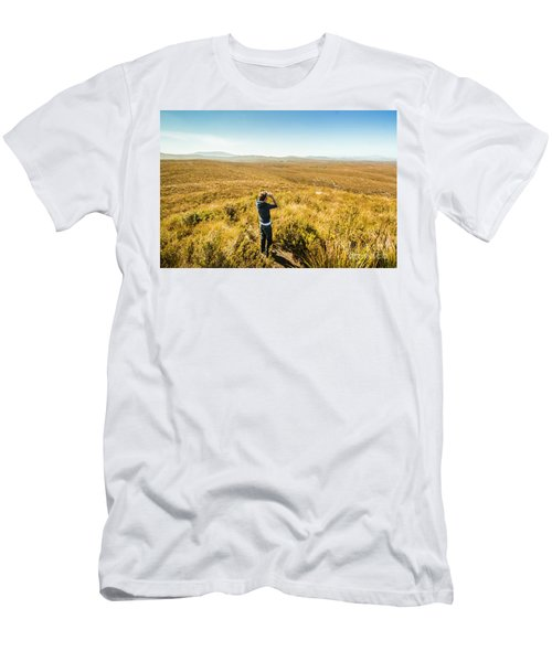 Western Plains Of Tasmania Men's T-Shirt (Athletic Fit)