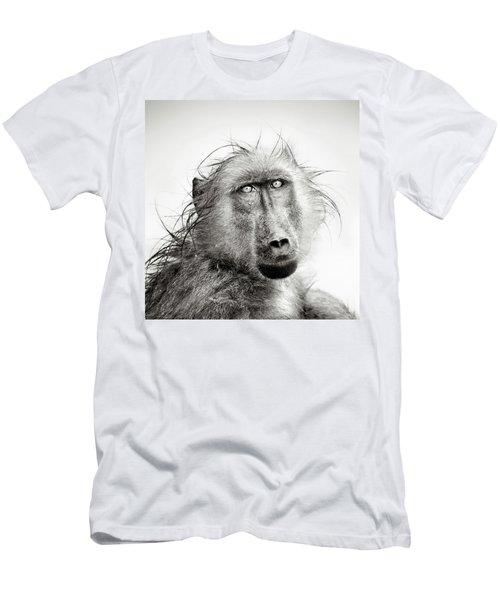 Wet Baboon Portrait Men's T-Shirt (Athletic Fit)