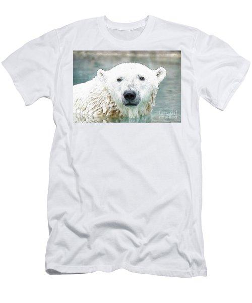 Wet Polar Bear Men's T-Shirt (Athletic Fit)