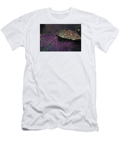 Wet Purple Leaves Men's T-Shirt (Athletic Fit)