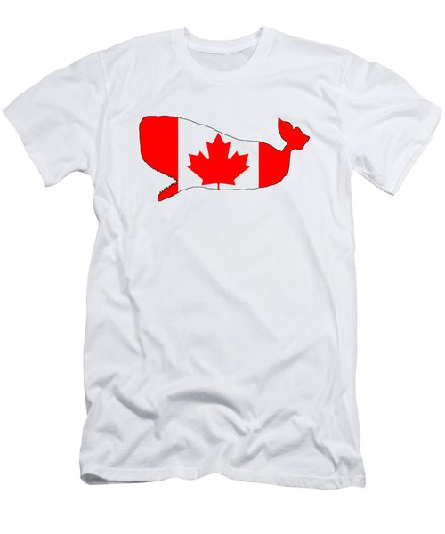 Whale Canada Men's T-Shirt (Slim Fit) by Mordax Furittus