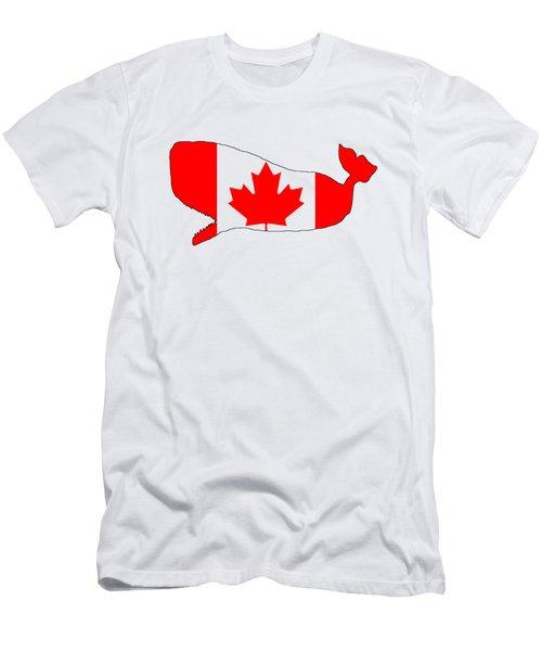 Whale Canada Men's T-Shirt (Slim Fit)