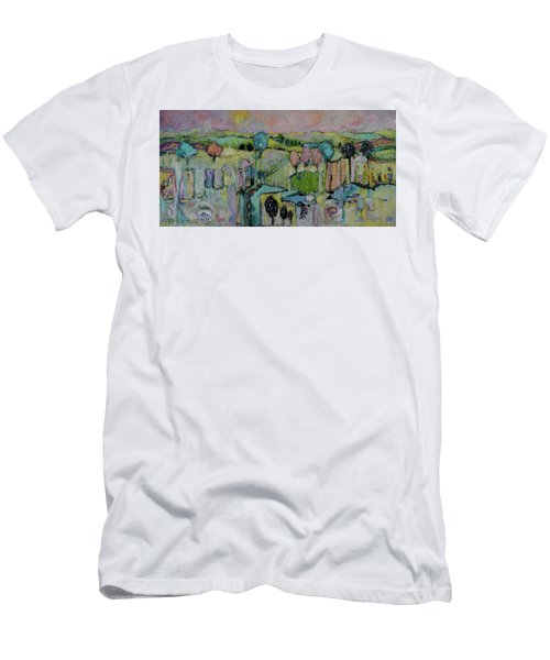 What A Bird Sees Men's T-Shirt (Slim Fit) by Sharon Furner
