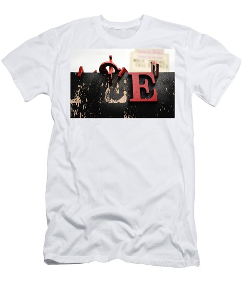 What Rhymes With E Men's T-Shirt (Athletic Fit)