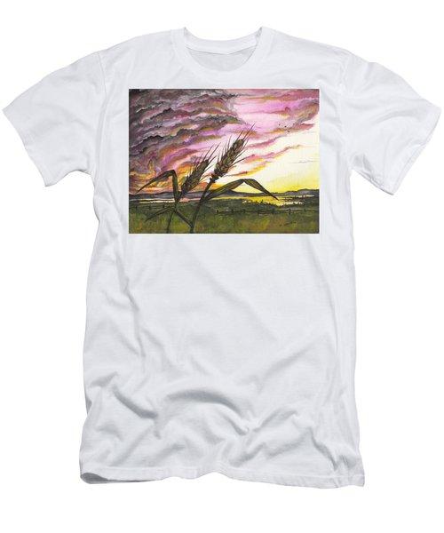Wheat Field Men's T-Shirt (Athletic Fit)