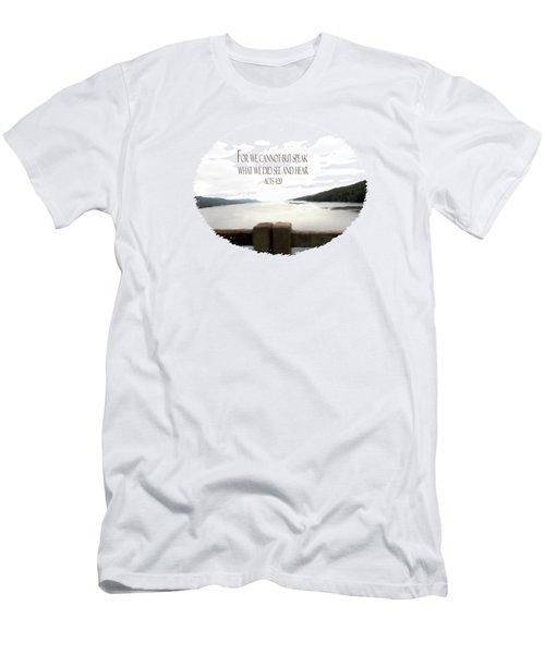 When I Cannot Speak - Verse Men's T-Shirt (Athletic Fit)