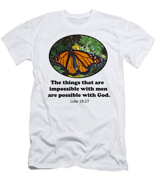 When The Rain Clears Monarch Butterfly Men's T-Shirt (Athletic Fit)
