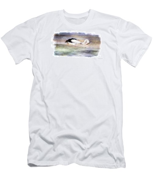 Men's T-Shirt (Slim Fit) featuring the photograph Where Is That Dam Fish 01 by Kevin Chippindall