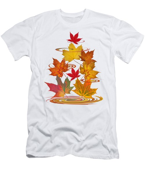 Whirling Autumn Leaves Men's T-Shirt (Athletic Fit)