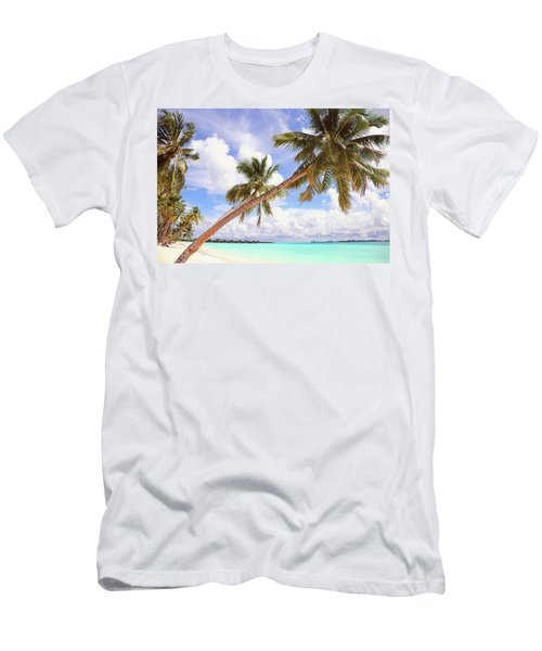 Whispering Palms. Maldives Men's T-Shirt (Athletic Fit)