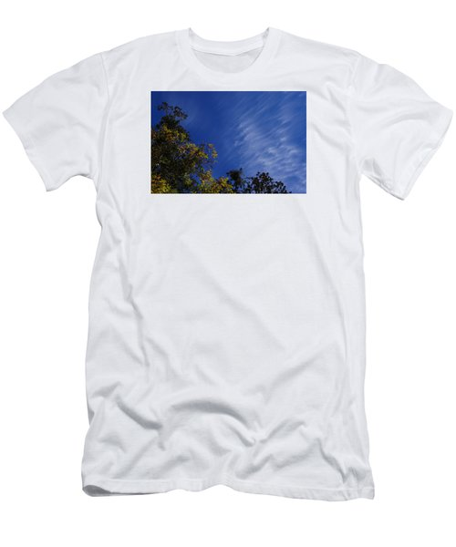 Whispy Clouds Men's T-Shirt (Slim Fit) by Adria Trail